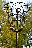 Gartenstecker Korb- hübscher Gartenstecker mit Korb vielseitig nutzbar für Pflanzen, Kerzen , Brenngel, Höhe 115-120 cm, stabile Ausführung
