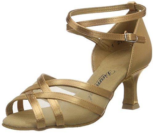 Diamante Latino 035-077-087 Scarpe Da Ballo Per Donna - Standard E Marrone Latina (bronzo)