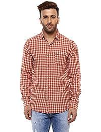 Mufti Button Down Checkes Full Sleeves Shirt