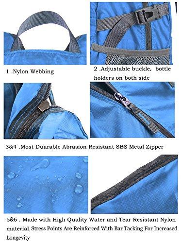 35 l Outlander Tagesrucksack, handlich, leicht, für Reisen/Wandern. Blau - hellblau