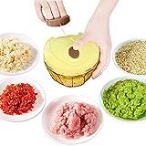 CCDZ Mini Manuelle Kochmaschine Küchengeschirr Manuell Knoblauch Gemüsehacker Küchenwerkzeug Fleischwolf Artefakt Ergänzungsfutter Für Babynahrung Fruchtjoghurt-EIS Produktion Werkzeug