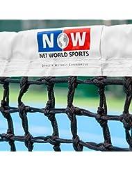 Tennisnetz für Doppel, 12,8 m (42 Fuß), 3,5mm mit Überschlag, Gewicht 10 kg [Net World Sports]