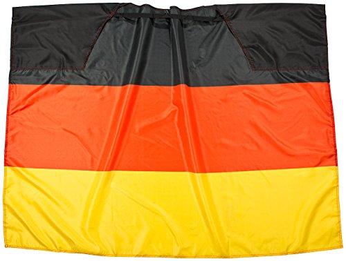PEARL Flagge: Deutschland-Cape 150 x 110 cm mit Ärmeln - Bodyflag (Länderflagge Deutschland) (Kurzarm-cape)
