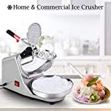 COSTWAY Ice Crusher, Electric Ice Shaver Machine, Stainless Steel Snow Cone Maker