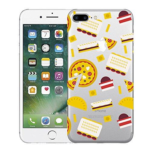 Custodia iPhone 7 plus Qissy® TPU Cover iPhone 7 Plus 5.5 pollici Custodia Bumper Morbida Crystal Clear Silicone elefante per Apple i Phone 7 Plus 7