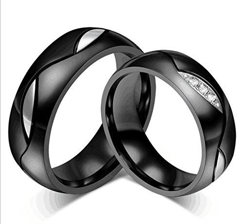 Jasmineees Schmuck Damen Ring,Runde Form Blatt Muster Breite 6mm Intarsien CZ Zirkonia Edelstahl Trauringe Ehering Verlobungsringe für...