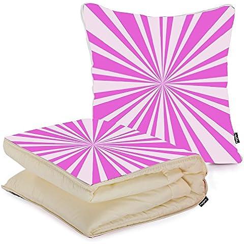 i FaMuRay Cuscino e Coperta da Viaggio Bright Pink Swirl