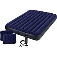 Intex Downy Queen Size Airbed Set (Blue)