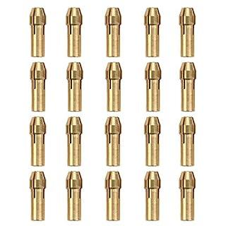 Messing Dremel Spannzange Bit-Set für Dremel Werkzeug, Bohrer-Chucks Spannzange Bits 0,5–3,2mm Schaft 20Stück