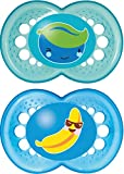 Mam 6+ Months Blue Yummy Soothers 2-pack
