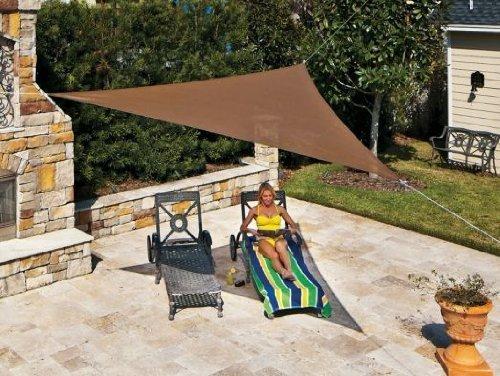 Coolaroo prêt-à-poser Triangle Ciel de voile d'ombrage, Pebble, 3.96 metre Triangle
