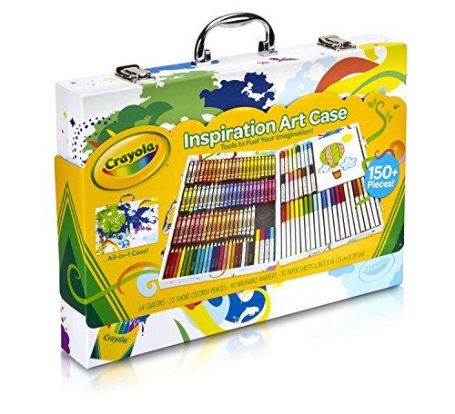 Crayola Inspirational art case (140pcs.) - kits de manualidades para niños (Lápiz de color, Lápiz, Rotulador, Niño/niña, Multicolor)