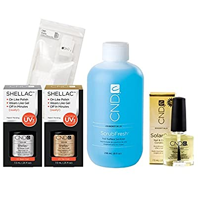 Cnd Shellac Treatment Kit - Top Coat + Base Coat + More