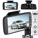 Wokee Full HD 1080P Dashcam Autokamera Video Recorder mit 170° Weitwinkelobjektiv, WDR, 3,5-Zoll-Auto-Kamera 1080P LCD-Display Recorder,Bewegungserkennung, Parkmonitor, Loop-Aufnahme, Nachtsicht und G-Sensor