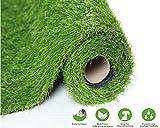 SUMC Kunstrasen Matte /Wolldecke /Teppich/Künstlicher Rasen Freien gefälschtes Gras Rasenteppich Kunststoffrasen Rollrasen im Freien Garten-Rasen für Hunde Haustiere  30mm Stapelhöhe(1m*2m)