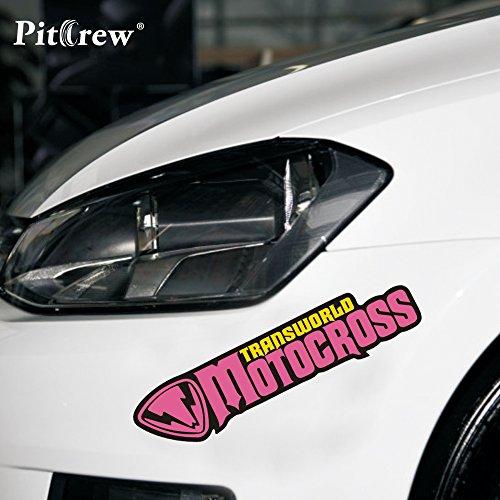 Rapidora (TM) 1PC 18.5 * 4.3CM Motocross Graffiti Parole fumetto del Anime di Car Styling Moto Adesivi auto e decalcomanie Accessori Esterni
