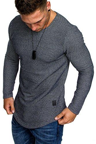 Crewneck Pullover (Amaci&Sons Oversize Vintage Herren Pullover Hoodie Sweatshirt Crew-Neck 6074 Navyblau L)