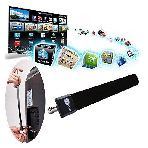 SNOWINSPRING Mini klar TV-Taste HDTV 100+ Kostenlose HD TV Digital Zimmerantenne 1080p Graben Kabel Mini-graben