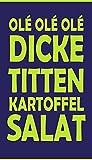 jilda-tex Strandtuch Badetuch 90x180 cm 100% Baumwolle Kartoffelsalat 420 gsm Abschlussfahrt Kegeltour