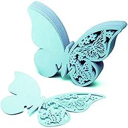50 marcasitios mariposa azul - varios colores