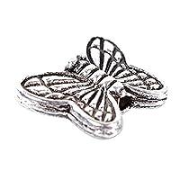 A-szcxtop�??30pcs Tibetan Silver Butterfly Spacer Charm Beads 10mm