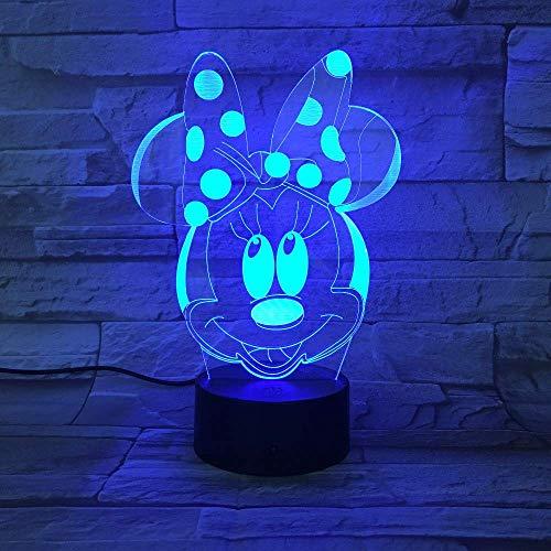 Mouse 3D Lampe 7 Farben Ändern Nachtlicht USB Tischlampe Nachtstimmung Licht für Kinder Lava Lampe Drop Shipping ()