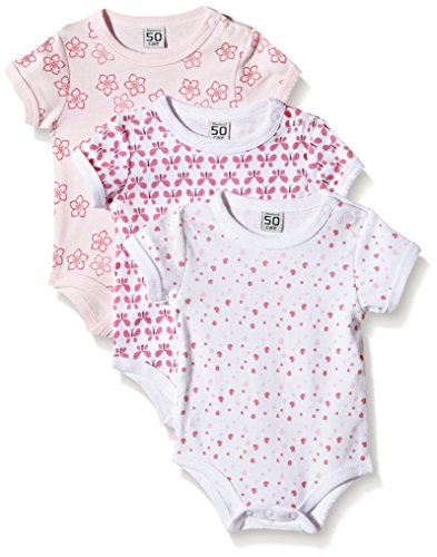 Care Body Bebé Manga Corta (Pack de 3) Rosa (Light Red 500) 18 Meses (Talla del...