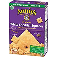 Annie'S - Organic Flavored Baked Crackers White Cheddar Squares 7.5 Oz. 177032