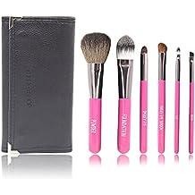 Xcellent Global 6Pcs Set de brochas de maquillaje kit de pala pinceles cosméticos profesional compone + bolsa funda BT008