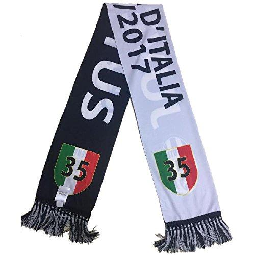 Bufanda de la Juventus con texto «Campioni d'Italia» y «scudetto» del 35º título de liga, código PS 06417