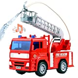 Pilego Camion dei Pompieri - Camion dei Pompieri Elettrico Giocattolo Mini Ultimate Rescue Veicolo con Scala allungabile Pompa dell'Acqua per Bambini Ragazzi e Ragazze 3 Anni