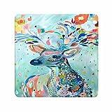 Elegant Design Hippie Deer Painting Game Partner Mousepads For Women