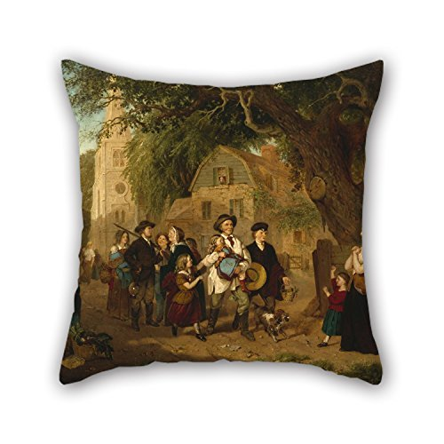 Polyester-jersey Werfen (Oil Painting Albert Fitch Bellows - The Lost Child Returned Throw Pillow Case 16 X 16 Inches/40 by 40 cm Gift or Decor for Bedding,Car,Drawing Room,Car Seat,Sofa,Saloon - Double S)