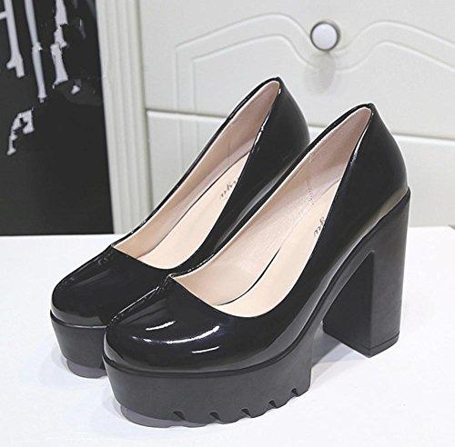 YMXJB L'Europe et l'état brut avec faible chaussures casual chaussures femme Black