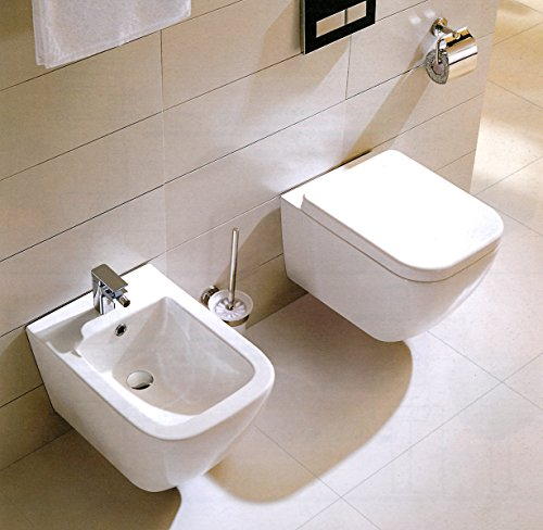 Yellowshop - Sanitari Bagno Sospesi Filo Muro Modello Klass Vaso Wc + Coprivaso Soft Close + Bidet