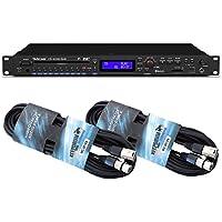 Tascam de UD8400U DAB Reproductor multimedia + Keepdrum 2XLR Cable 6m
