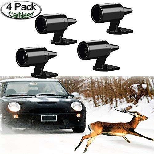 Deer Alert für Fahrzeuge, vermeidet Deer Kollisionen Auto Deer Warnung, Schwarz Ultraschall Wildlife Warning für Auto Motorrad Truck SUV und ATV (4 Stück)