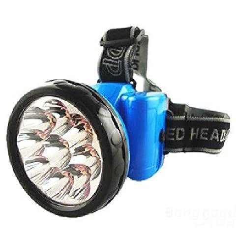 mark8shop 9LED portable rechargeable Projecteur extérieur haute lumière lampe frontale