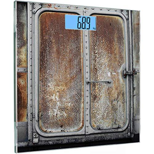 Ultra Slim Hochpräzise Sensoren Digitale Körperwaage Industrielle Vintage Eisenbahn Container Tür Metall Alte Lokomotive Transport Eisen Power Design Gehärtetes Glas Personenwaage, Char -