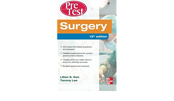 Buy Surgery PreTest Self-Assessment and Review, Thirteenth