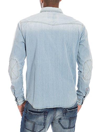 Timezone Textil - Chemise casual - Col chemise classique - Manches longues Homme Bleu - Blau (light indigo stripes 3655)
