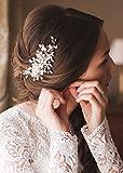 Kercisbeauty Haarschmuck,für Hochzeiten,Kristall mit Strasssteinen für Hochzeiten,Mädchen(Silber)