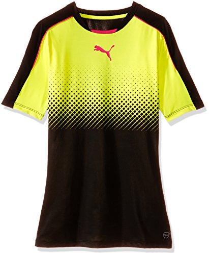 PUMA Herren T-Shirt IT Evotrg Thermo-r ACTV Tee Schwarz-Safety Gelb