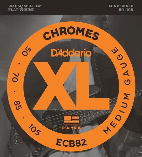DADDARIO ECB82   JUEGO DE CUERDAS PARA BAJO ELECTRICO DE CROMO   050    105