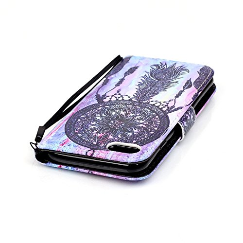 """Coque iPhone 7, Firefish [Slots pour carte] [Kickstand] Flip Folio Wallet Case Cuir synthétique Shell Scratch résistant Housse de protection pour Apple iPhone 7 (4.7"""") 2016 Blacknet"""