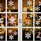 Naler Stickers Muraux Noël Flocons De Neige Film Electrostatique Autocollant de Fenêtre Vitre Flocon de Neige 96 PCS