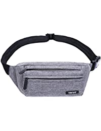 TINYAT Waist Bag Belt Bum Bag Travel Running Outdoor Sport Fanny Pack for  Women Men ba19fe443b88f