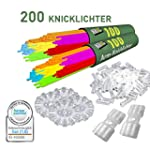 200 Knicklichter KNIXS inkl. 200 x 2D...