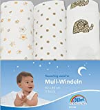 Alvi 93819 Mull Windeln beige bedruckt
