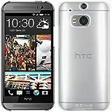 kwmobile Hülle für HTC One M8 / Dual - Crystal Case Handy Schutzhülle Kunststoff - Backcover Cover klar Transparent